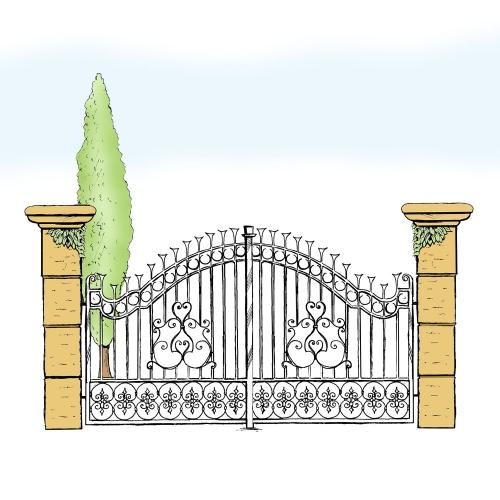 Eisentor für Hof & Garten * SG-001 / Portone