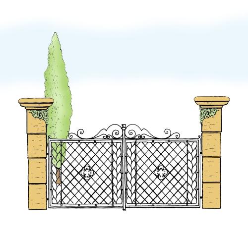 Eisentor für Hof & Garten * SG-002 / Portone