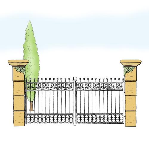 Eisentor für Hof & Garten * SG-003 / Portone