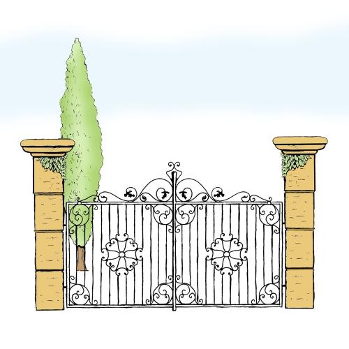 Eisentor für Hof & Garten * SG-004 / Portone