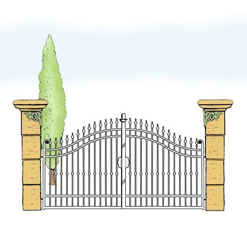 Eisentor für Hof & Garten * SG-005 / Portone