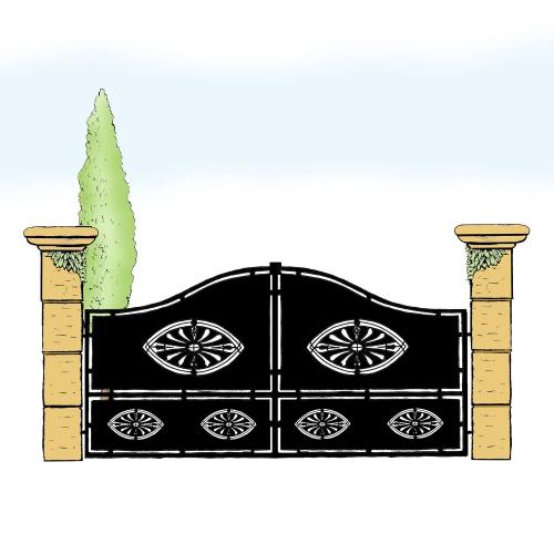 Eisentor für Hof & Garten * SG-006 / Portone