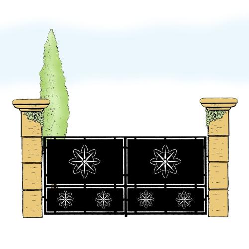 Eisentor für Hof & Garten * SG-007 / Portone
