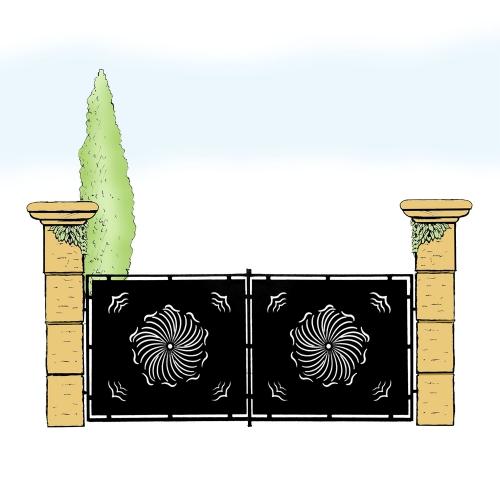 Eisentor für Hof & Garten * SG-008 / Portone