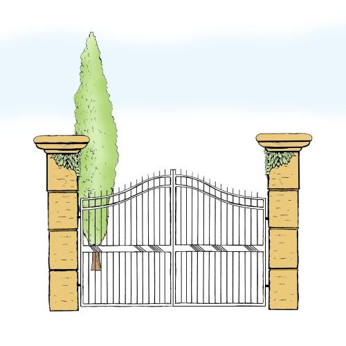 Eisentor für Hof & Garten * SG-009 / Portone