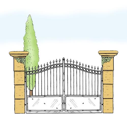 Eisentor für Hof & Garten * SG-012 / Portone
