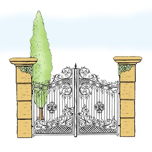 Eisentor für Hof & Garten * SG-014 / Portone