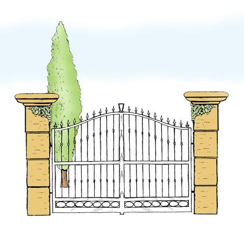 Eisentor für Hof & Garten * SG-016 / Portone