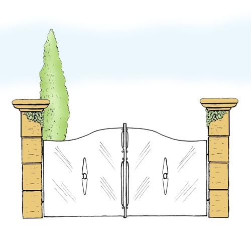 Eisentor für Hof & Garten * SG-019 / Portone