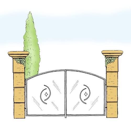 Eisentor für Hof & Garten * SG-020 / Portone