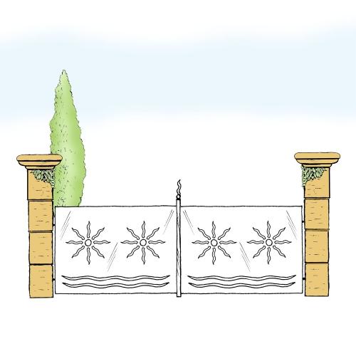 Eisentor für Hof & Garten * SG-021 / Portone