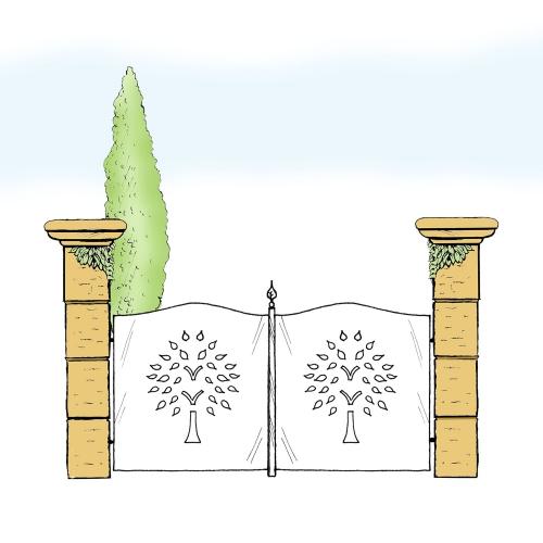 Eisentor für Hof & Garten * SG-022 / Portone