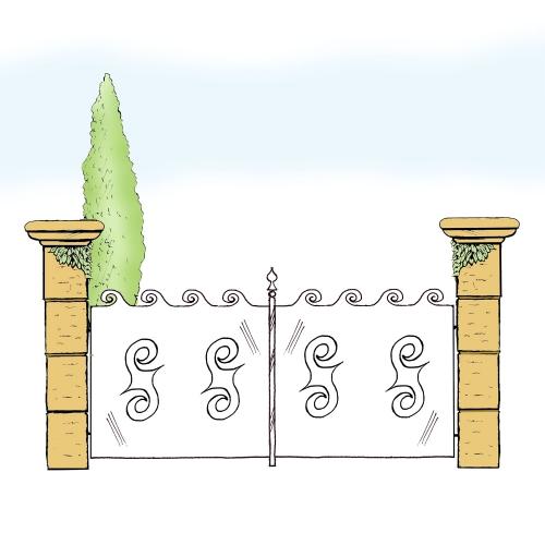 Eisentor für Hof & Garten * SG-023 / Portone
