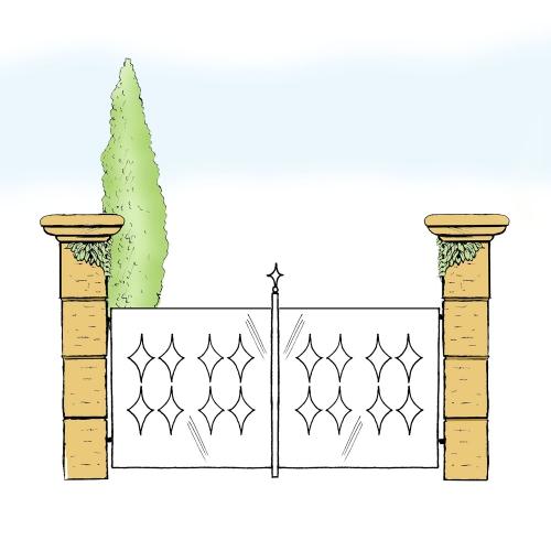 Eisentor für Hof & Garten * SG-024 / Portone