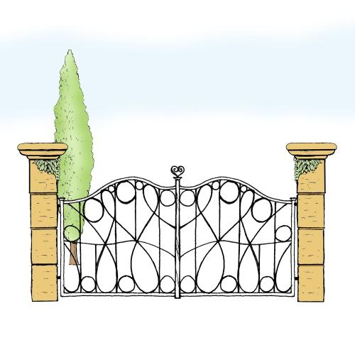 Eisentor für Hof & Garten * SG-025 / Portone