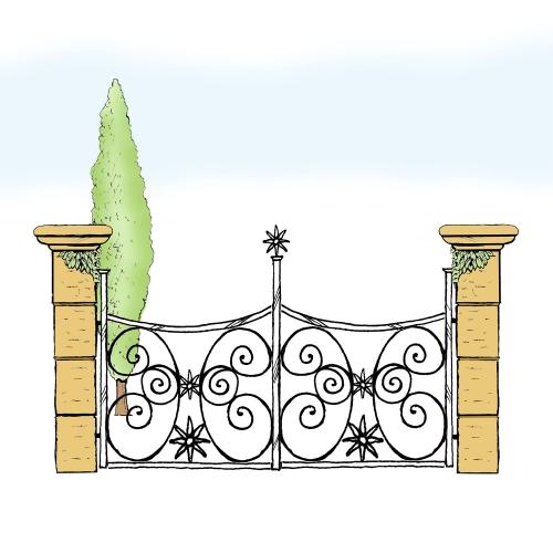 Eisentor für Hof & Garten * SG-026 / Portone