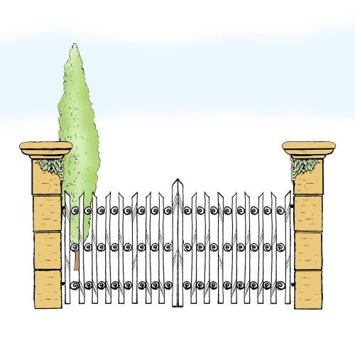 Eisentor für Hof & Garten * SG-029 / Portone