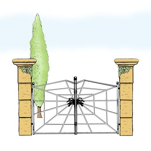 Eisentor für Hof & Garten * SG-031 / Portone