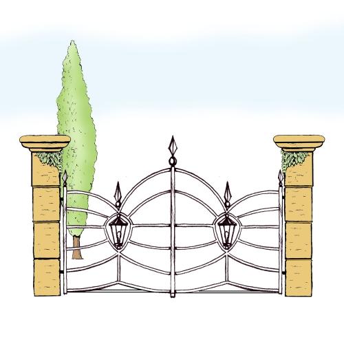 Eisentor für Hof & Garten * SG-033 / Portone