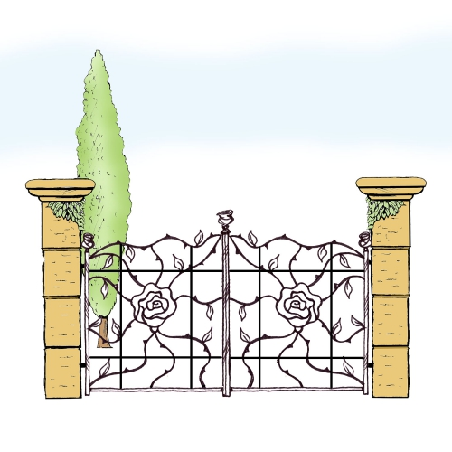 Eisentor für Hof & Garten * SG-035 / Portone