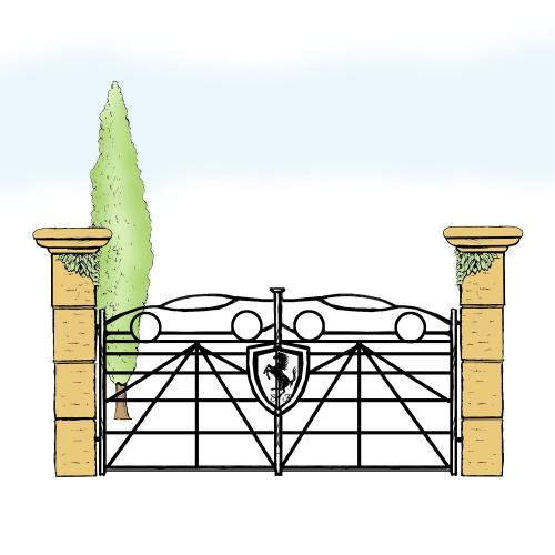Eisentor für Hof & Garten * SG-040 / Portone