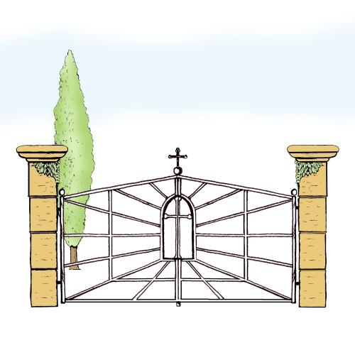 Eisentor für Hof & Garten * SG-039 / Portone