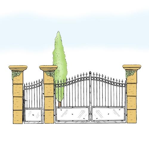 Eisentor und Eisentür Anlage für Hof & Garten * SG-012 / Portone und Portoncino