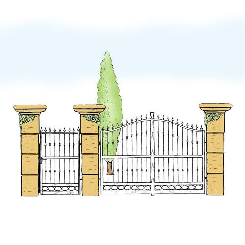 Eisentor und Eisentür Anlage für Hof & Garten * SG-016 / Portone und Portoncino