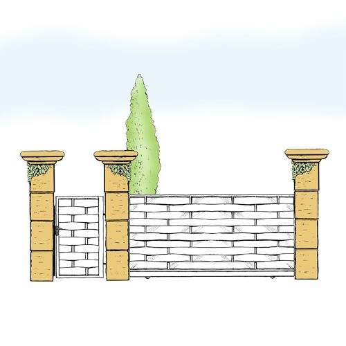 Eisentor und Eisentür Anlage für Hof & Garten * SG-018 / Portone und Portoncino