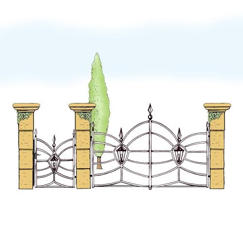 Eisentor und Eisentür Anlage für Hof & Garten * SG-033 / Portone und Portoncino