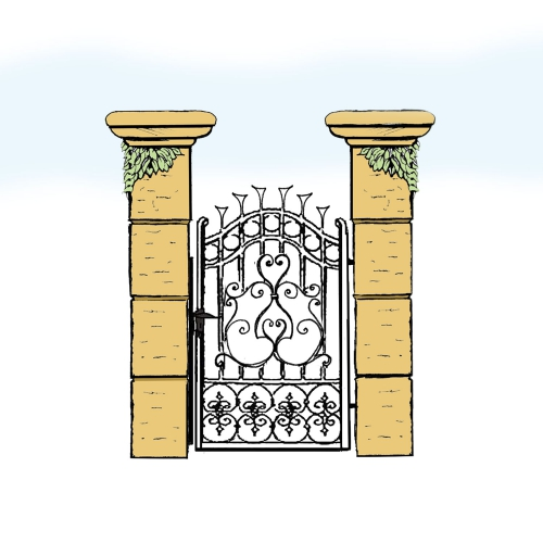 Eisentür für Hof & Garten * SG-001 / Portoncino