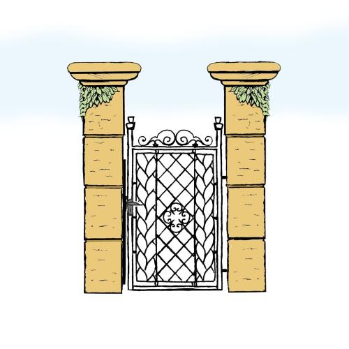 Eisentür für Hof & Garten * SG-002 / Portoncino