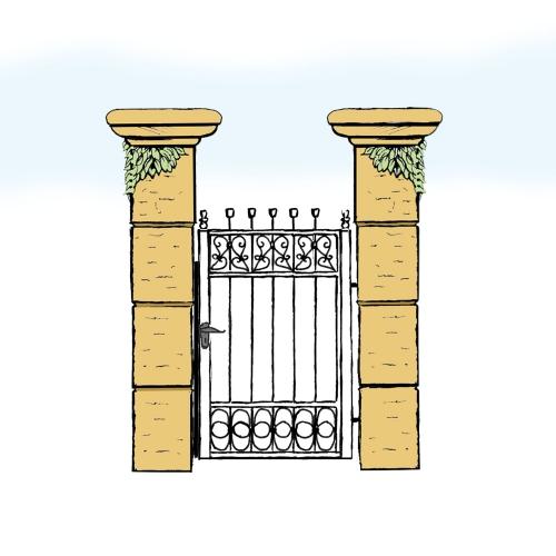 Eisentür für Hof & Garten * SG-003 / Portoncino