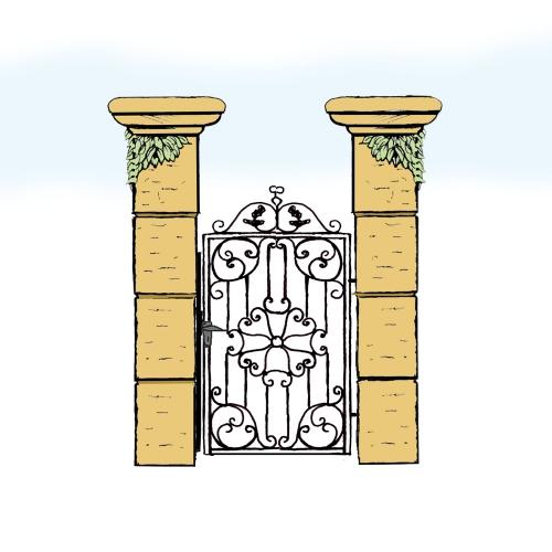Eisentür für Hof & Garten * SG-004 / Portoncino