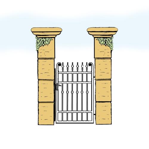 Eisentür für Hof & Garten * SG-005 / Portoncino