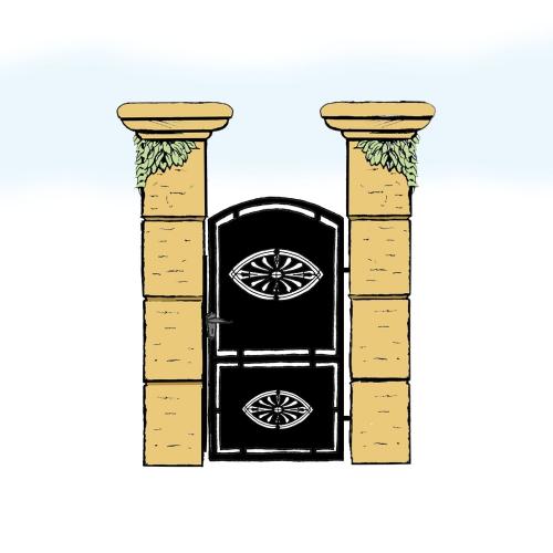 Eisentür für Hof & Garten * SG-006 / Portoncino