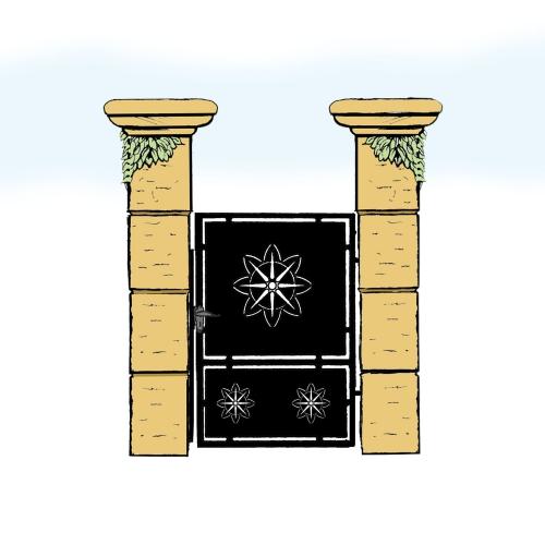 Eisentür für Hof & Garten * SG-007 / Portoncino
