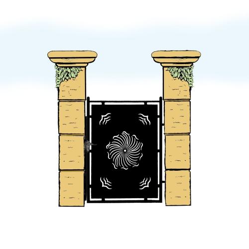 Eisentür für Hof & Garten * SG-008 / Portoncino