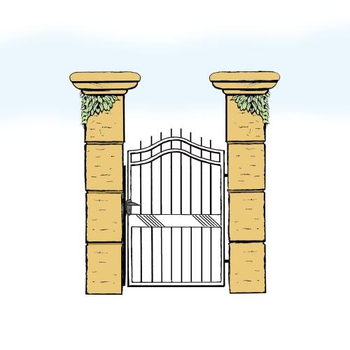 Eisentür für Hof & Garten * SG-009 / Portoncino