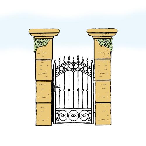 Eisentür für Hof & Garten * SG-010 / Portoncino