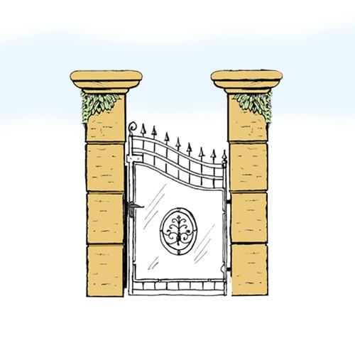 Eisentür für Hof & Garten * SG-011 / Portoncino