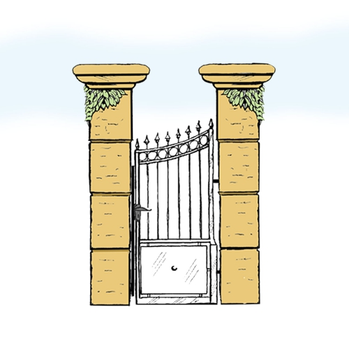 Eisentür für Hof & Garten * SG-012 / Portoncino