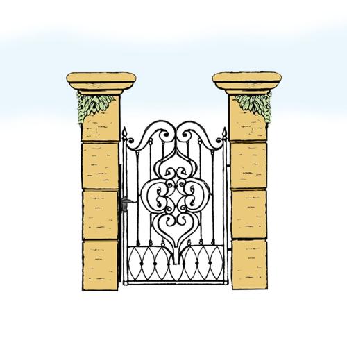 Eisentür für Hof & Garten * SG-013 / Portoncino