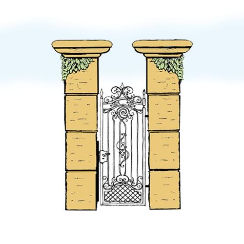 Eisentür für Hof & Garten * SG-014 / Portoncino
