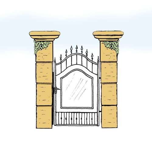 Eisentür für Hof & Garten * SG-015 / Portoncino