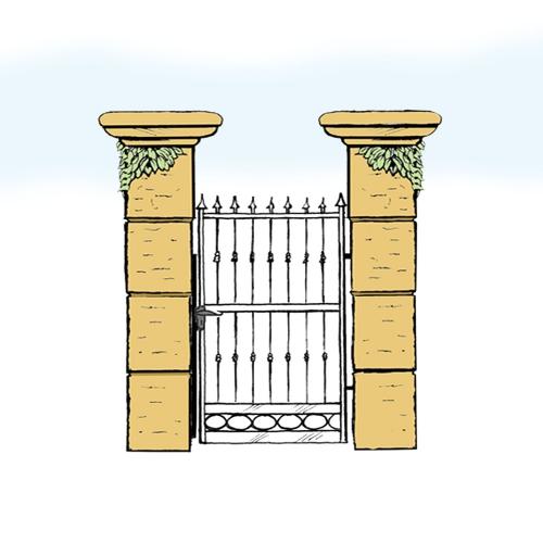 Eisentür für Hof & Garten * SG-016 / Portoncino