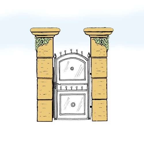 Eisentür für Hof & Garten * SG-017 / Portoncino