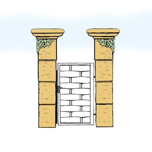 Eisentür für Hof & Garten * SG-018 / Portoncino