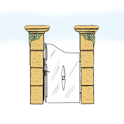 Eisentür für Hof & Garten * SG-019 / Portoncino