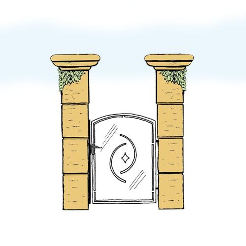 Eisentür für Hof & Garten * SG-020 / Portoncino